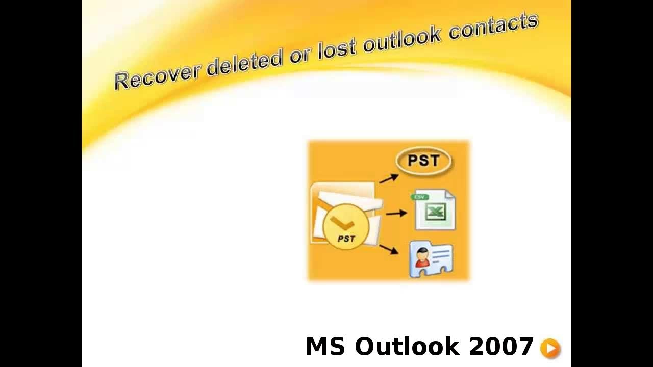 Como recuperar contatos no Outlook 2007