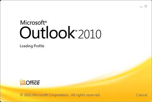 Outlook 2010 schließt unerwartet