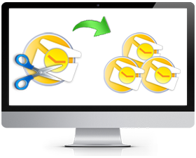 how to split pst files