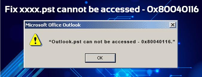 Error 0x80040116