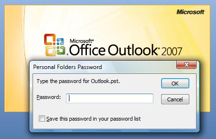 find pst password