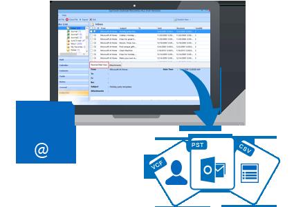 restaurer le carnet d'adresses Outlook