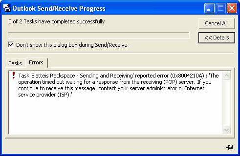 0x8004210a Error fix