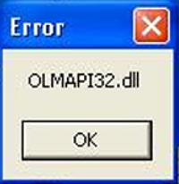 olmapi32.dll Error