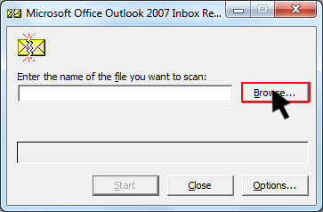 scan outlook 2007 pst windows 7