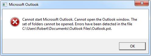 scanpst exe error