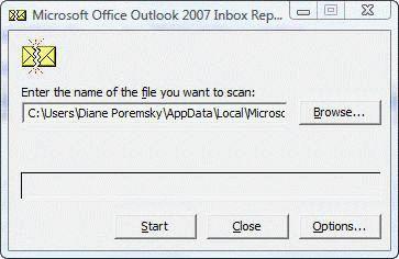 scanpst.exe in windows 7
