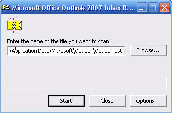 scan pst windows 7