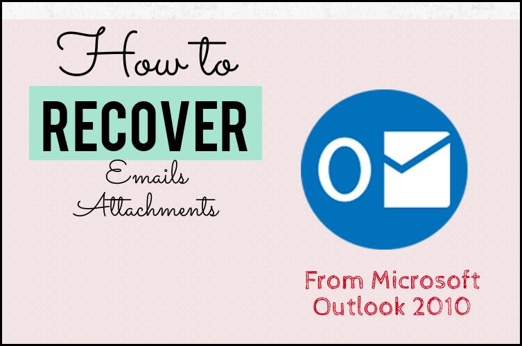 Outlook-Anlagen wiederherstellen