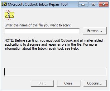 إصلاح scanpst