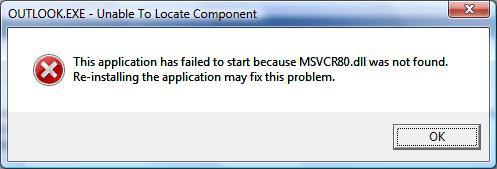 MSVCR80.dll was not found Error