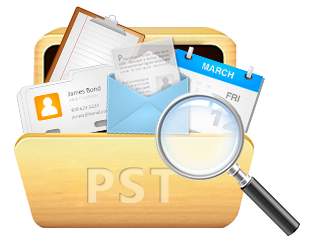find location of scan pst in xp