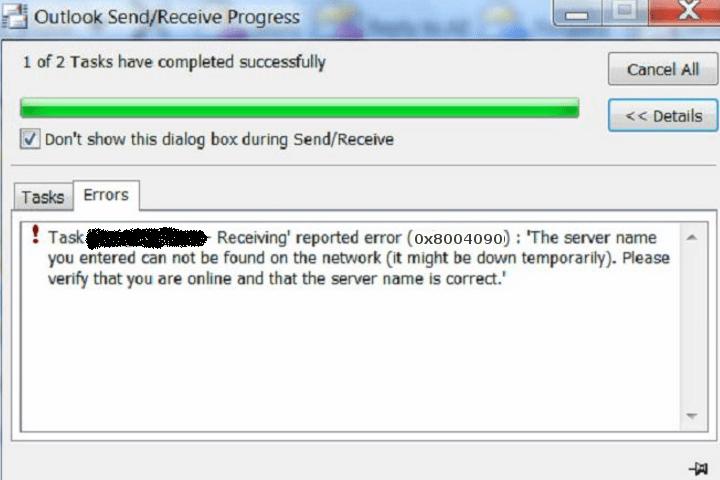How To Fix Outlook Error 0x80040900?-common outlook errors