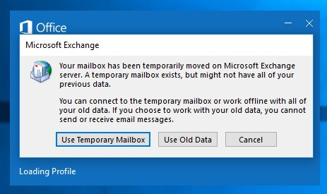 fix Outlook mailbox is temporarily unavailable error