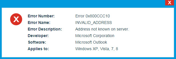 Fix Outlook Error Code 0x800CCC10