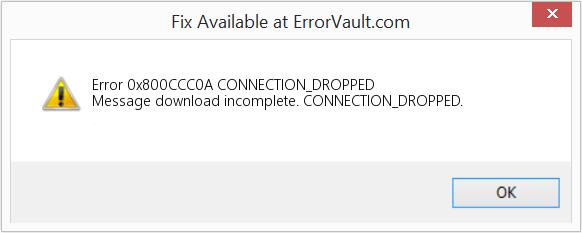 Fix Outlook Error Code 0x800CCC0A