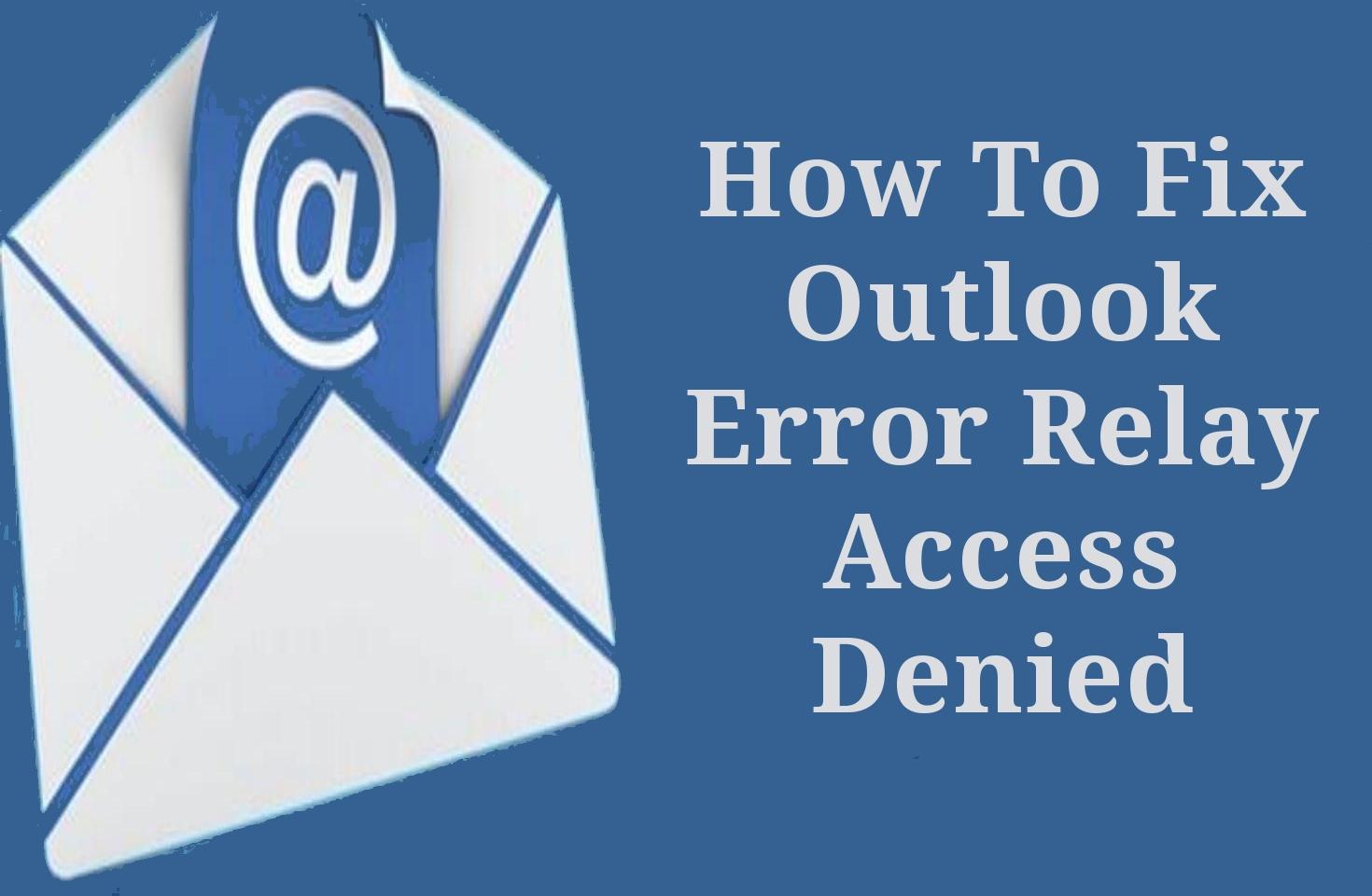 خطأ في Outlook ترحيل رفض الوصول