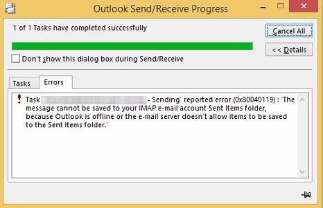 error code 0x80040119