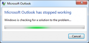 outlook 2007 not responding