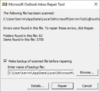 Outlook PST Repair & The Inbox Repair Tool