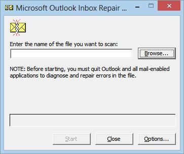 Scanpst.exe The Inbox Repair Tool