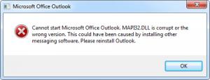 إصلاح مايكروسوفت أوتلوك 2003 MAPI خطأ