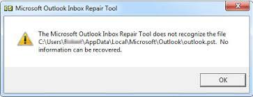 Réparer la TVP lorsque l'outil de réparation de la boîte de réception ne répond pas