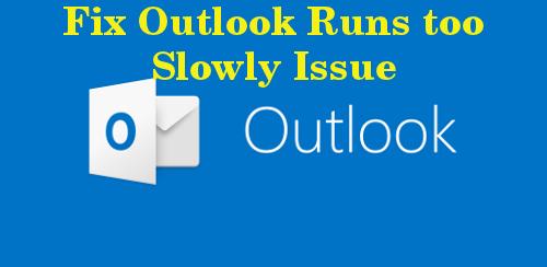 Fix Outlook kører også langsomt