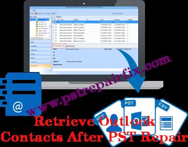 Hent Outlook Kontakter Efter PST Reparation