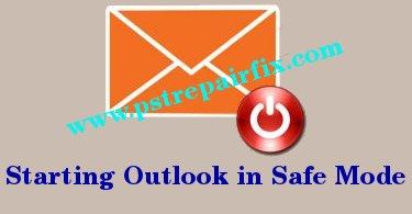 بدء تشغيل Outlook في الوضع الآمن