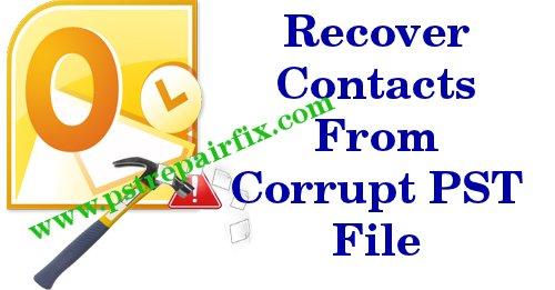 Stellen Sie Kontakte aus einer beschädigten PST-Datei wieder her
