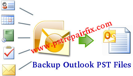 Backup Outlook PST Files