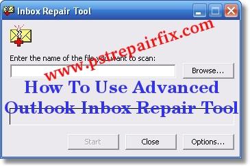إصلاح علبة الوارد Outlook المتقدمة