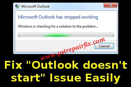 إصلاح Outlook لا يبدأ المشكلة