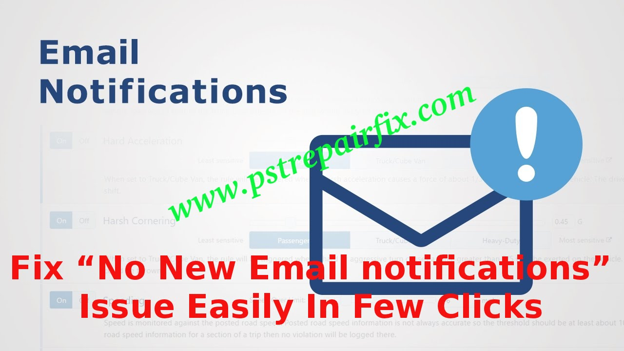 No New Email notifications