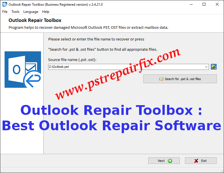 Outlook Repair Toolbox