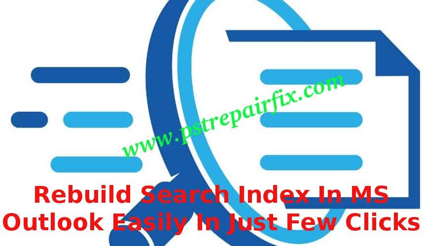 Rebuild search index