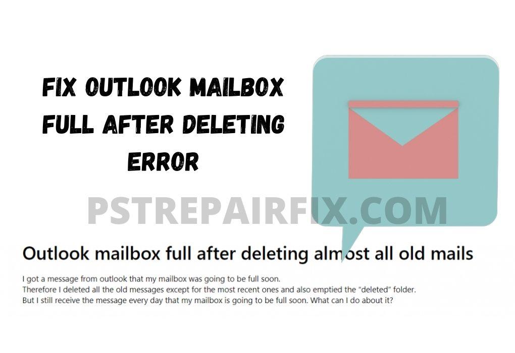 """Corregir el error """"Buzón de Outlook lleno después de eliminar"""""""