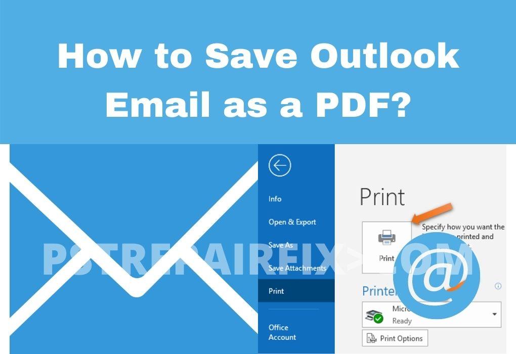 Guarde el correo electrónico de Outlook como PDF